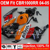 Wholesale 7gifts Cowl Tank Injection For HONDA CBR1000RR Repsol Q79141 CBR RR RR CBR1000 RR Orange red Fairing Kit