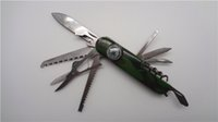 Wholesale Stainless Steel Swiss Champ Kinfe Compass Switzerland Multifunctional Folding Army Saber Portable Outdoor Survival Knives Camping Tools