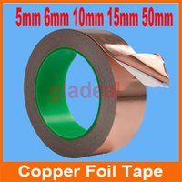 Wholesale 30M Industry Adhesive Electric Conduction Copper Foil Tape EMI Shielding Barrier Cellphone LCD Computer Repair Tool