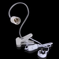 Wholesale Flexible E27 White LED Lamp Holder On off Switch Cm Power Cable Cord Clip