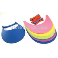 Wholesale pc Foam Sun Visors adjustable Hat Foam Visor With Coil Band Craft kits Cap Golf Visor Kid s Zoo