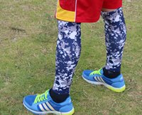 splint - DHL knee leg sleeve Compression Running Leg Sleeves Calf Shin Splint Womens Mens Socks Track neon