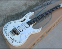 Wholesale High Quality Electric Guitar with White Body and White Pearl Pickguard and Tree of Life Fret Marks Inlay