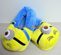 Wholesale 30 pairs Despicable Me Minions Slipper Plush Stuffed Slippers Cuddly Fluffy Collectible Jorge Dave Stewart inch