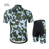 Wholesale Breathable Camouflage Cycling Sets Quick dry Bicycle Short Sleeve Jersey Pants Sports Cycling Wear Suit Set S XL Y0870