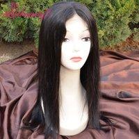 Pelucas llenas del cordón de Glueless peluca recta del frente del cordón del pelo de la Virgen pera del grado 7A 7 '' - 28 '' Pelucas llenas del pelo humano del cordón para las mujeres negras
