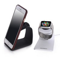 Wholesale For Apple Watch Charging Station Metal Stand Charger Holder Dock Docking For Watch For iPhone in Watch Phone Holder Metal Charging Dock