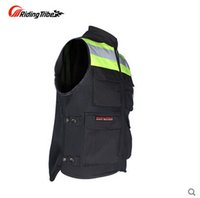 Wholesale Motorcycle riding Nocturnal reflective vest racing Fluorescent safety clothing RD Tribe JK Orange and Green color