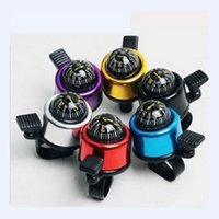 bicycle bell compass - 2015 New Aluminum Alloy Bicycle Compass Bell Outdoor Sports Hiking Color Colorful The Dazzling Cycling Bell Compass High Quality Bell