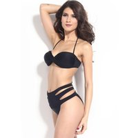 Wholesale 2015 Freeshipping Solid Natural Color Tankini Swimsuits New Small Chest Stylish Two piece Bikini Swimsuit Split Female Ad21904