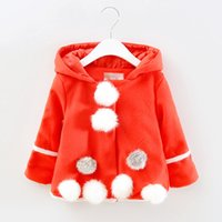 baby boomers - The new autumn outfit han editionRed woolen cloth coat areata lovely baby boomers girls coat to keep warm coat