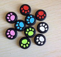 Cheap Cat Claw Footprint style Silicone Analog Thumb Stick Grips Controller Cap Caps Cover for PS4 PS3 XBOX ONE 360 Controller DHL FEDEX FREE SHIP