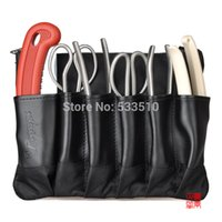Wholesale 175MM Series Stainless Steel Bonsai Tool Set pockets suit perfect circle Aralia comedy with bonsai