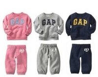 top brand - Girls Clothes Boys Clothing Sets Girl Set Brand Long Sleeve Children Outfits Baby Tops Boy Pants Tracksuit Red Blue Gray Pink I2608