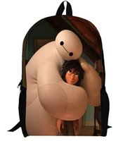 bay books - baymax school bag big hero Mochila Backpack Cartoon chlidren s bags student s shoulder bag book bags bay gift hot sale