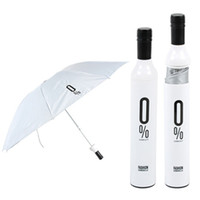 wine bottle umbrella - 50pcs Folding Waterproof Sun Umbrellas Portable Wine Bottle Design Parasols Women s Outdoor Rainproof Outfits H210