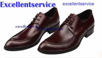 Cheap Plus Size Genuine Leather Men's Shoes Oxfords Wedding Dress Shoes Business Formal British Leather shoes