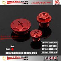 Wholesale Billet Aluminum Engine Timing Oil Filter Plug Set Red CRF CRF150R CRF250R CRF450R CRF450X order lt no track