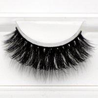 Wholesale RMZ26 real siberian d mink fur strip false eyelash long individual eyelashes mink lashes extension