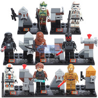 Wholesale 8pcs Star Wars Building Blocks Clone Soldier miniFigures kids Toys mini Figures Bricks Legominifigure SY198