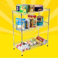 Metal basket display rack - 3 Tiers Vegetables Supermarket Display Basket Rack