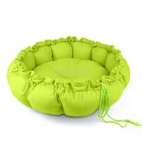 Wholesale Free Shipipng Pet Puppy Dog Cat Kitten Soft Pumpkin Comfy Warm Sleep Sponge Bed Cushion House Nest Mat Blue Brown Pink M L