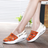 baby swing red - Baby Elephant Printing Canvas Rocking Wedge Sneakers Bodybuilding Swing Espadrilles Shoes Walking Sports Shoes