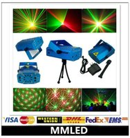 led projector light - LED Mini Stage Light Laser Voice Control Projector Mixed Red Green Lighting With Tripod For Lights Xmas Club Party Bar