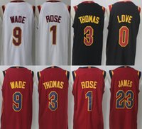100% stitched 017-18 New 23 LeBron James 9 Dwyane Wade jersey Men 0 Kevin  Love 3 Isiah Thomas 1 Derrick Rose Cavaliers jerseys ... 891660f12b5a8