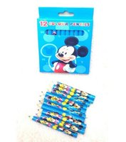 Wholesale New set Mickey Students Wood Pencil Stationery School Supplies Color Pencil For Best Gifts