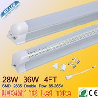 E27 ac pc - 8 usd W T8 ft led Double row tube integrated lights SMD m mm Ac V lm w lm High quality led tube lamps