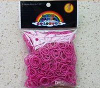 Cheap RUBBER BAND REFILL Hot Glow in the Dark Loom Jelly Bands Rubber Bands Loom Bracelets (600 bands + 24 clips) 7 Colors Fast Delivery