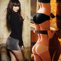 Wholesale Womens Sexy Padded Seamless Underwear Soft Butt Hip Enhancer Shaper Panties Underwear DIE