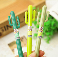 Wholesale New Creative cute Cactus design Gel pen office school Fashion Gift dandys