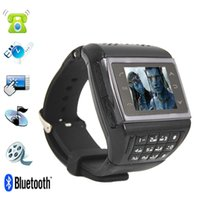 Wholesale Perfect watch phone quot Avatar ET Dynamic Design Watch Cell Phone Bluetooth FM MP3 MP4 Black White