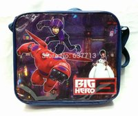 Wholesale 20pcs CM Cartoon Movie Big Hero Baymax lunchbag lunch box for kids