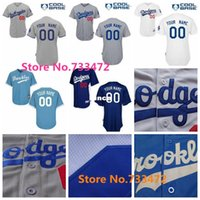 angeles team - 30 Teams Cheap Custom Los Angeles Dodgers Jerseys Any Name Any Number Blue White Gray Throwback Brooklyn Dodgers Personalized