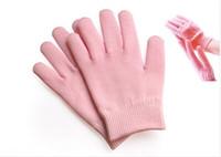 Wholesale skin care GeLuscious Gloves Pink Whiten Cracked Skin Moisturizing Treatment Gel SPA Glove Hand Mask Care