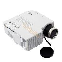 mini projector - Drop shipping led white mini projector Portable multimedia led mini projector support VGA AV SD USB input