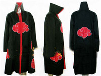 akatsuki cloak costume - drop shipping new Naruto Akatsuki Cloak Sasuke Itachi Wind Dust Coat Orochimaru uchiha madara Cosplay Costume