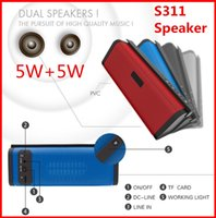 big button hand phone - S311 W W Horn Big Power Hi Fi Sound Wireless Bluetooth Portable Speaker For Phone Car Computer Hand free Small Mini Speaker Small Stereo