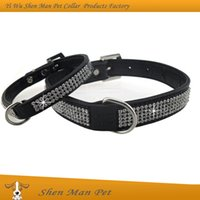Wholesale 2016 Hot Sale New Design Bling Crystal Full Rhinestone Black Crocodile Pattern Leather Puppy Pet Dog Collar for small dog