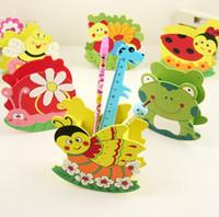bee swing - Stationery cartoon bee pen wooden colored drawing pen swing budaoweng