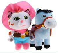 Unisex baby wild cats - Boneca Sheriff Callie Wild West Plush Dolls Sheriff Callie Cat Horse Stuffed Toys Birthday gift for Children Kids Baby