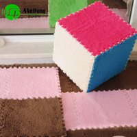 Wholesale Hot sale set spliced with cashmere cushion door carpet baby crawling carpet bedroom floor mats with cm