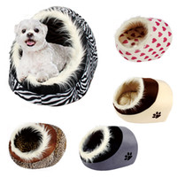 pet bed - Pet Bed Winter Warm House Bed Dog Cat Kennel Zebra Leopard Grey Pink Colors for Choosing Pet Products Supplies