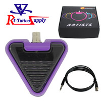 best tattoo foot pedal - High quality Best peice Triangle Design Footswitch For Tattoo Power Supply With Five Colors in Stock