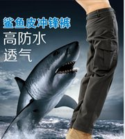 Wholesale New mens lurker shark skin soft shell outdoor military tactical pants High quality waterproof breathable sports army camouflage trousers