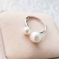 Wholesale rings Sterling silver solid silver shell pearl women gift iice latest fashion Jewelry NO90