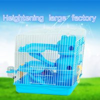 Wholesale 2015 New The cage hamster Iron wire Pet Cage Pet supplies The cage Heightening Three layers hamster Sleep the room